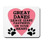 Great Dane Pawprints Mousepad