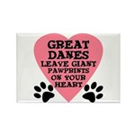 Great Dane Pawprints Rectangle Magnet