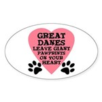 Great Dane Pawprints Sticker (Oval)