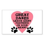 Great Dane Pawprints Sticker (Rectangle)