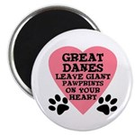 Great Dane Pawprints Magnet