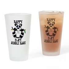 Happy Is My Name Drinking Glass