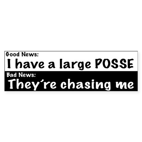 Large Posse Bumper Sticker