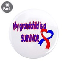"grandchild_CHD_Survivor 3.5"" Button (10 pack)"