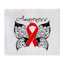 AIDS Noir Butterfly Throw Blanket