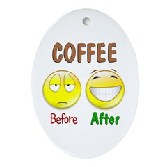 Coffee Humor Ornament (Oval)