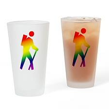 Hiker Pride Drinking Glass