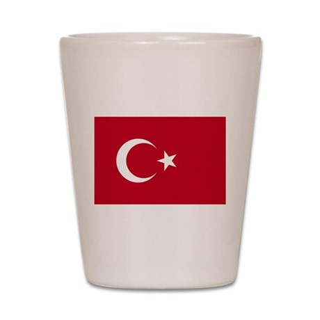 Turkish Flag Shot Glass