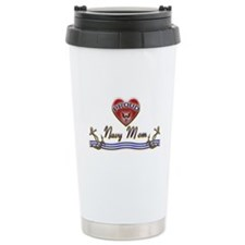 Proud Navy Mom Ceramic Travel Mug