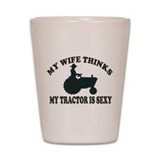 Tractor Sexy Shot Glass