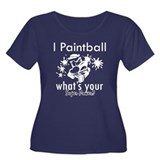 I Paintball Women's Plus Size Scoop Neck Dark T-Sh