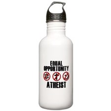 Equal Opportunity Atheist Water Bottle