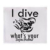 I Scuba dive Throw Blanket