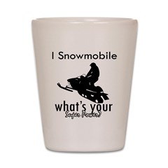 I Snowmobile Shot Glass