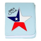 Made in Chile star flag baby blanket