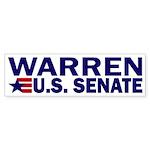 Elizabeth Warren US Senate Sticker (Bumper)