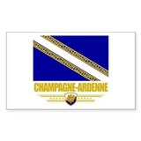 Champagne-Ardenne Sticker (Rectangle)
