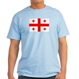 Georgian Flag Ash Grey T-Shirt
