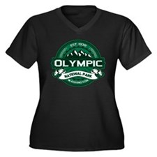 Olympic Forest Green Women's Plus Size V-Neck Dark