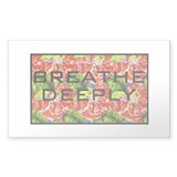 Breathe deeply Rectangle Decal