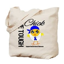 Rectal Cancer OneToughChick Tote Bag