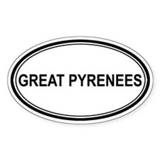 Great Pyrenees Euro Oval Decal