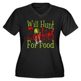Will Hunt Zombies Women's Plus Size V-Neck Dark T-