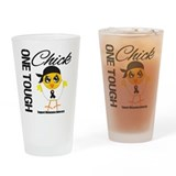 Melanoma One Tough Chick Drinking Glass