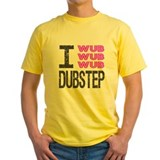 I Wub Dubstep Pink Grey Tee-Shirt