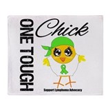 Lymphoma One Tough Chick Throw Blanket