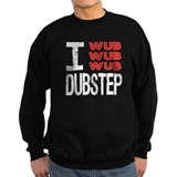 I Wub Dubstep Orange White Sweatshirt