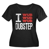 I Wub Dubstep Orange White Women's Plus Size Scoop