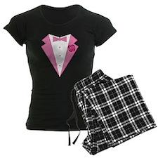 Funny Pink Tuxedo Pajamas