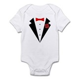 Funny Tuxedo [red bow] Onesie