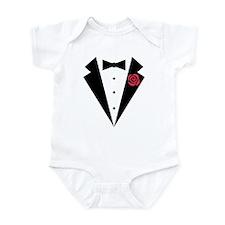 Funny Tuxedo [red rose] Infant Bodysuit
