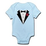 Funny Tuxedo [red rose] Onesie
