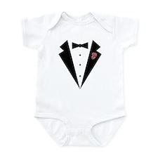 Funny Tuxedo [pink rosebud] Infant Bodysuit