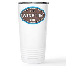 The Winston Badge in Brown Travel Mug