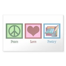 Peace Love Poetry Decal
