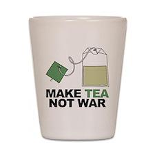Make Tea Not War Shot Glass