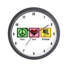 Peace Love Kwanzaa Wall Clock