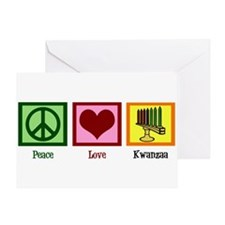 Peace Love Kwanzaa Greeting Card