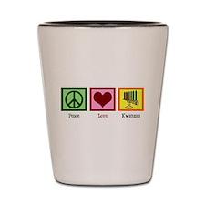 Peace Love Kwanzaa Shot Glass
