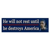 America Destroyed Car Sticker