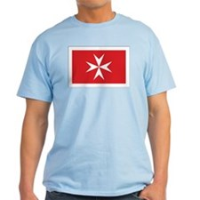 Malta Civil Ensign Ash Grey T-Shirt