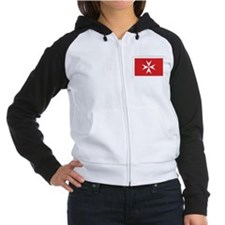Malta Civil Ensign Women's Raglan Hoodie