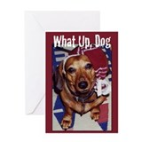 Dachshund What Up Greeting Card (Single)