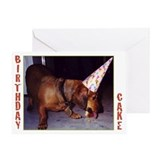 Dachshund Birthday Greeting Card (Single)