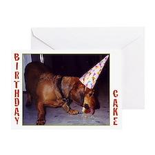 Dachshund Birthday Greeting Card (Single)