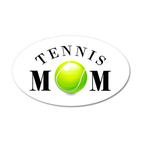 Tennis Mom (basic) 38.5 x 24.5 Oval Wall Peel